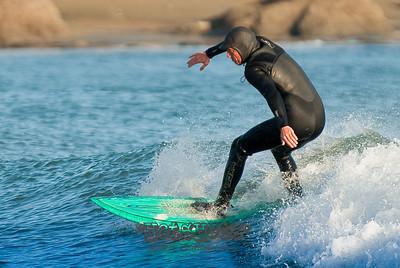 Chris Surfing @ Garth's 01-27-09