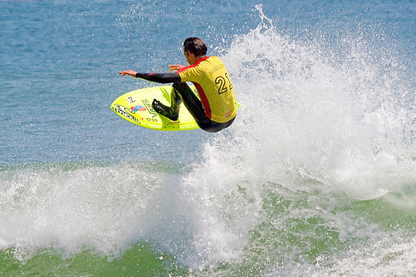 Competition of National Surfing League at Leo Carrillo Beach, California, 2005.