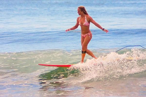 Surfer, Lahaina, Hawai'i.