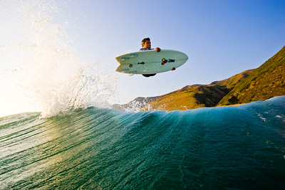 Dane Reynolds at home in Ventura