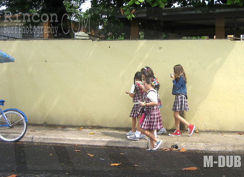 School Girls on the street in Puerto Rico.