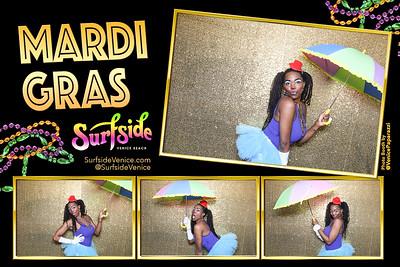 Venice Beach Mardi Gras @SurfsideVenice.  Photo booth by @VenicePaparazzi