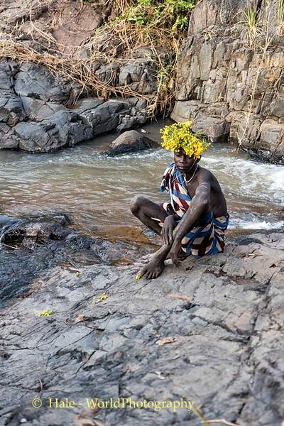 Suri Boy Along the Stream