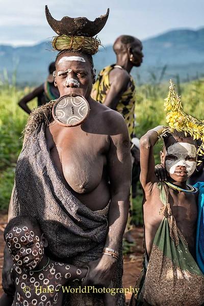 Elderly Suri Woman and Children