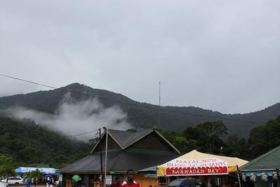 damp op de bergen