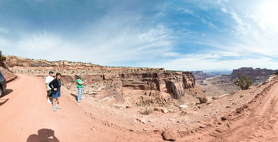 Near top of Shafer Trail in Canyonlands NP