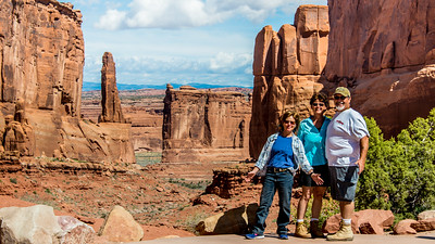 Nancy and Johnny with Jo at Arches National Park, Utah