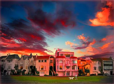 Twilight on the Marina Green