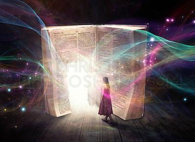 Glowing Bible Entrance