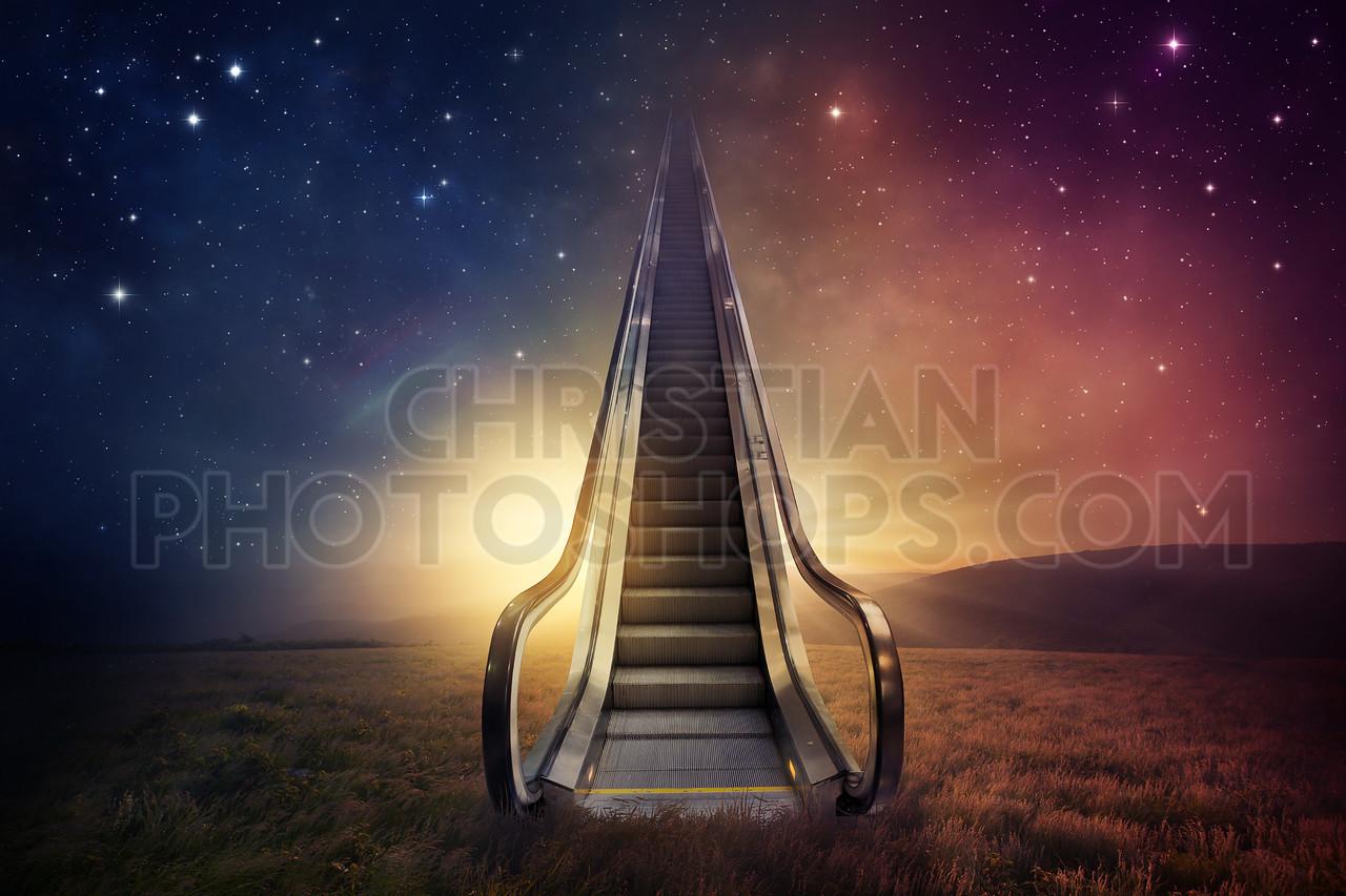 Escalator sky