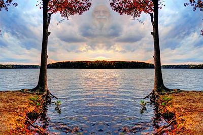lake Brandt marina self portrait