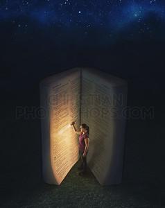 Flashlight and Bible