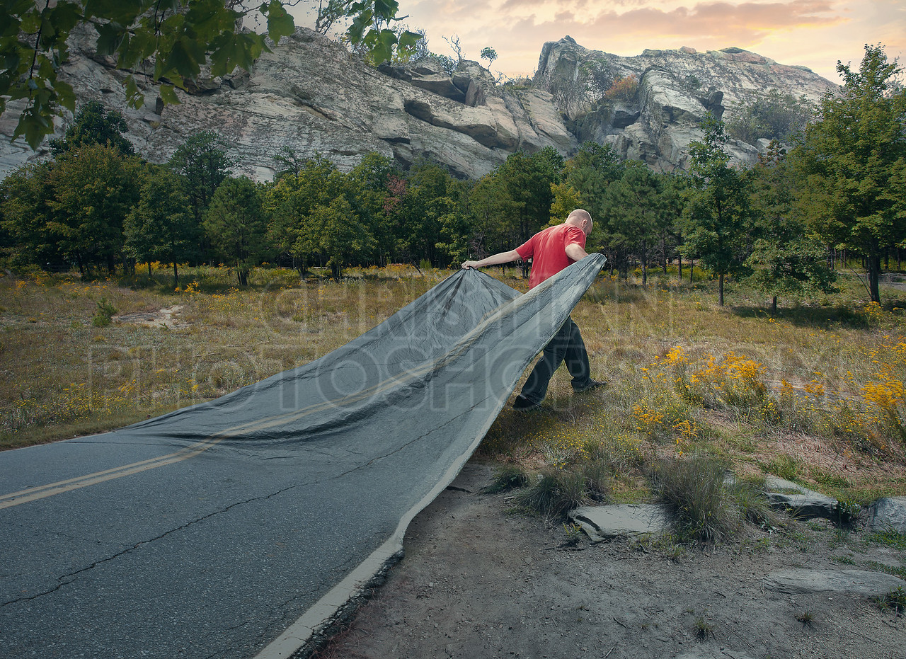 Carrying a road