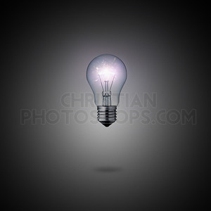 Glowing lightbulb