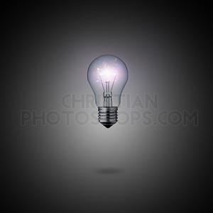 Glowing lightbulb