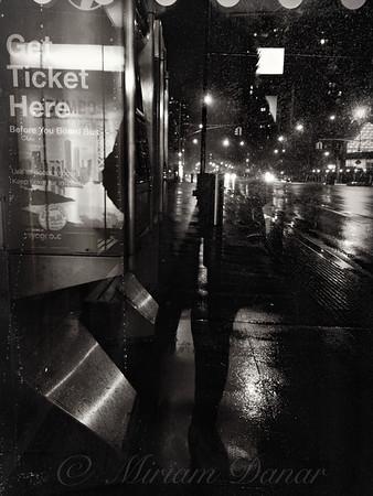 Shadow Girl Bus Stop