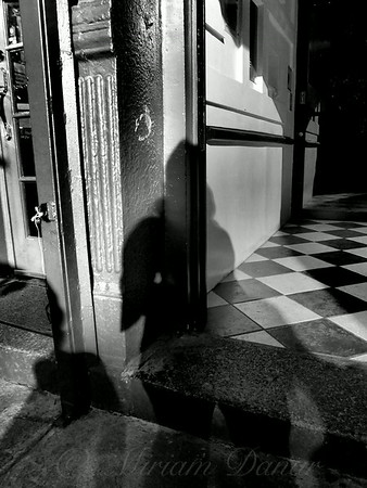 Shadow Girl In Doorway.