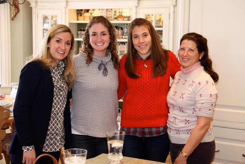Megan, Michelle, Kristina & Nikki in the Madsen's cosy kitchen.
