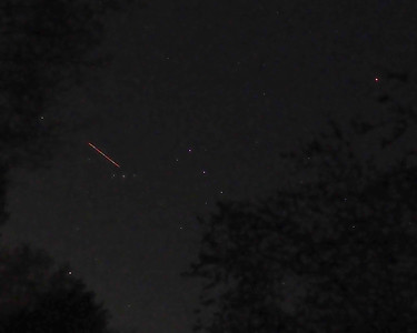 Orion Constellation with meteor