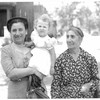 Grandma Makrouhi Norsigian, Toni Vartanian Heifner and Great Grandma Lucien Kapoian, Canton, Illinois, 1953