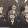 Katchig Manoogian, Tatos Manoogian, Khoogas Manoogian. Standing-Moushegh Manoogian, Ohanes Manoogian and Arakel Manoogian
