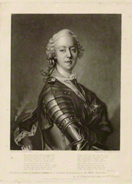 NPG D32667; Prince Charles Edward Stuart