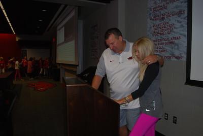 Coach Bret and Jen Bielema7
