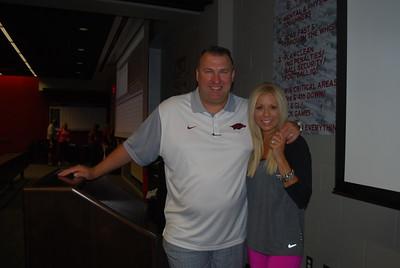 Coach Bret and Jen Bielema5