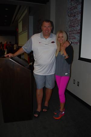 Coach Bret and Jen Bielema1