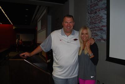 Coach Bret and Jen Bielema6