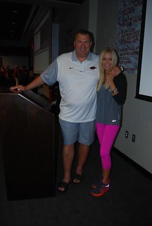 Coach Bret and Jen Bielema3