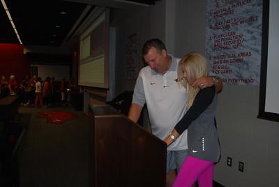 Coach Bret and Jen Bielema9