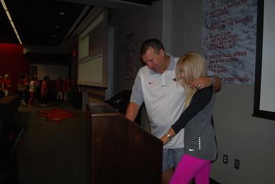 Coach Bret and Jen Bielema8