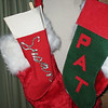 My aunt made my stocking in 1962 and it still works just fine. I modeled Pat's after mine. In Pat's family they did huge stockings so we had to get those enormous furry things to hold the extra stocking stuffers.