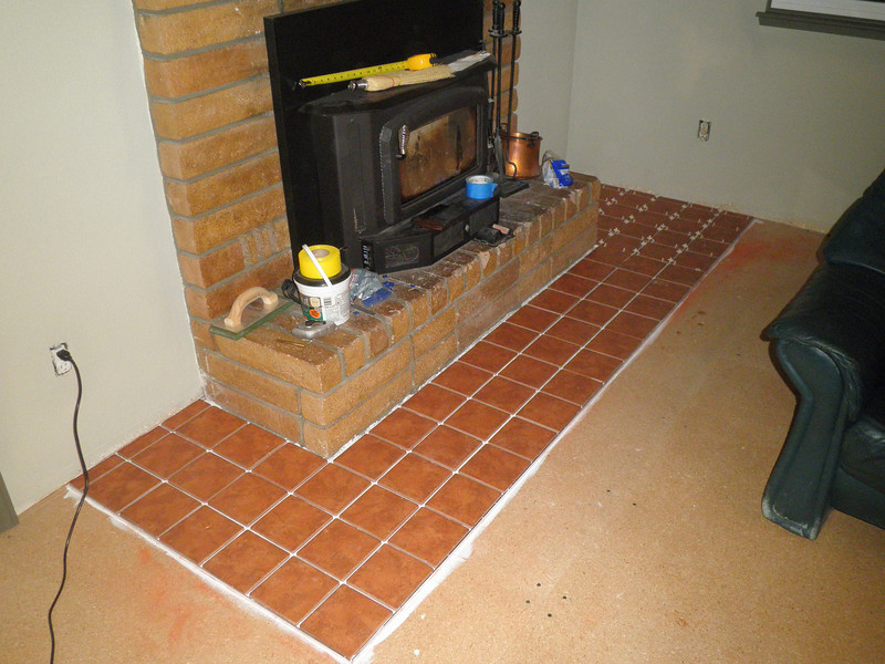 and having laid in the last of the tiles ...