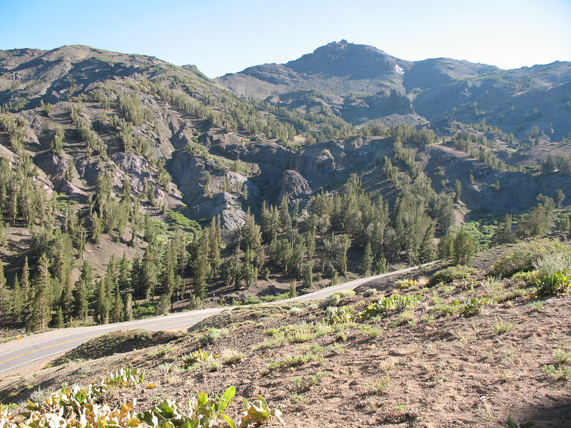Looking south from the top of Sonora Pass.