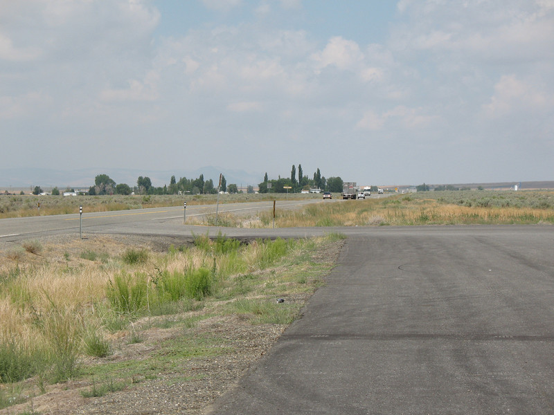 Looking north at the roadside rest on Highway 95 near Orovada, NV about 30 miles south of the Nevada/Oregon border.