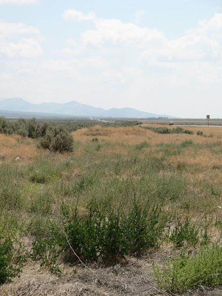 Looking south along Highway 95 and the Santa Rosa Range back toward Winnemucca.