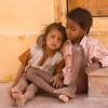 Children Waiting at Construction Site:  Jaipur