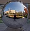 Amway globe across the street from the NHK studios, Shibuya