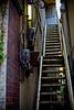 Stairway and electrical meters - Waseda