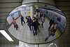 Group photo - subway station mirror