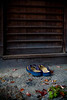Sandals parked at the entrance - Kyoto