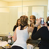 Laura picks up make-up tips from the bride-to-be while Marie captures the image.