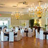 The dining/ballroom is in readiness