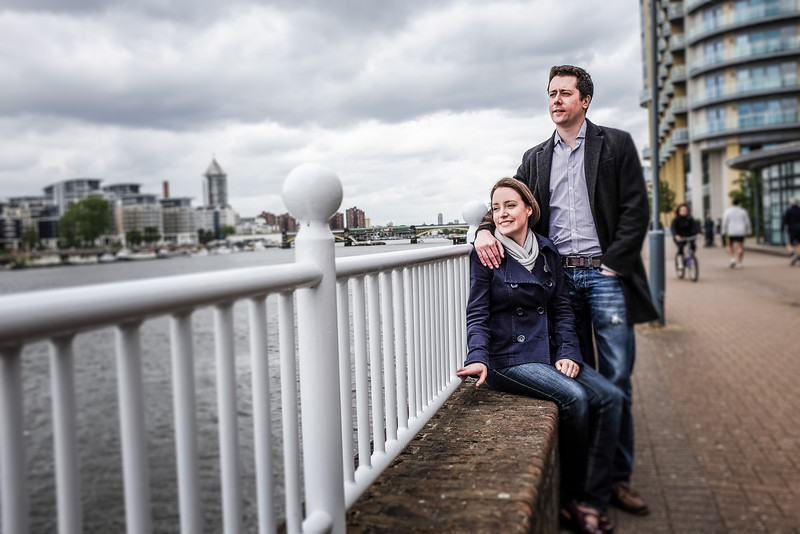 Susie and David's Spring pre-wedding shoot by the River Thames, London
