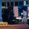 Authorities were on scene at Newton Place and Boulder Drive to investigate a suspicious package on Tuesday evening. SENTINEL & ENTERPRISE / Ashley Green