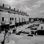 1960`s view showing the raised gardens