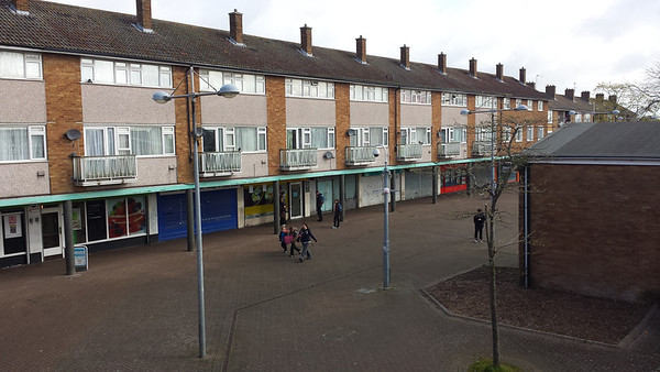 I started filming this shopping centre with flats in 2014