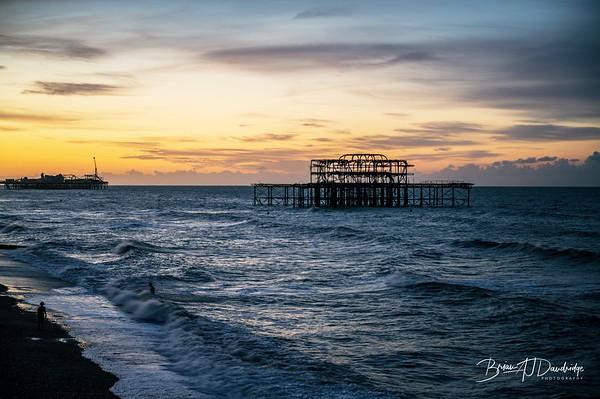 Dawn on Brighton Seafront